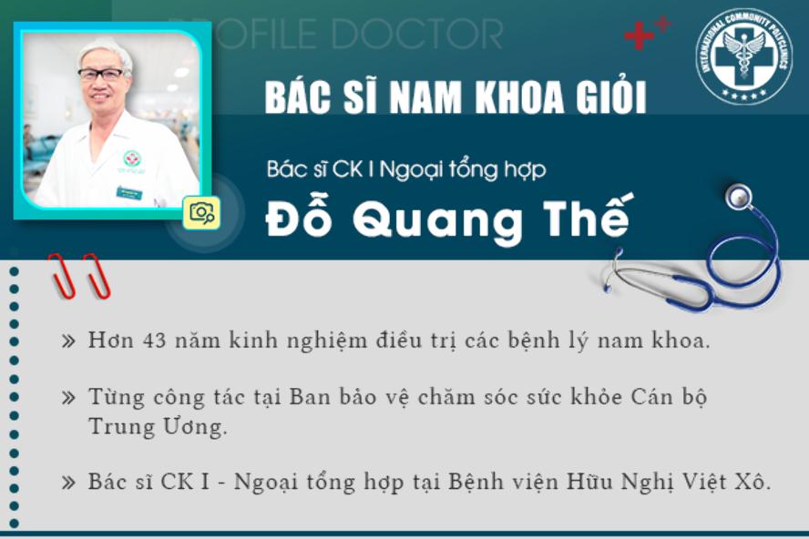 Hạng mục mà bác sĩ CKI Đỗ Quang Thế đảm nhận