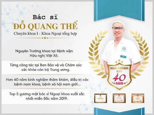 Quá trình học tập và công tác của bác sĩ CKI Đỗ Quang Thế