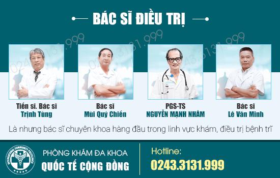 100% bác sĩ có chuyên môn vững vàng