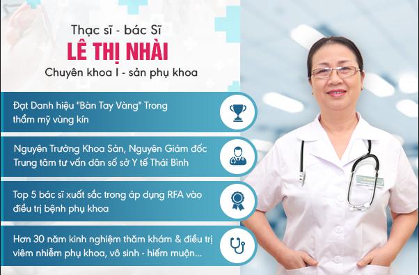 Bác sĩ sản phụ khoa, bệnh xã hội Lê Thị Nhài