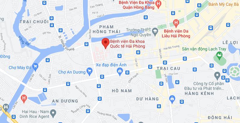 Bệnh viện đa khoa Quốc tế Hải Phòng ở đâu?